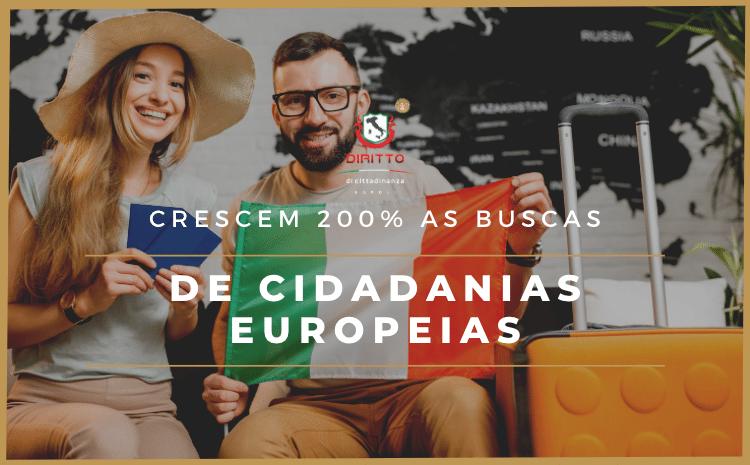 Busca por cidadanias europeias cresceram 200% em 2021
